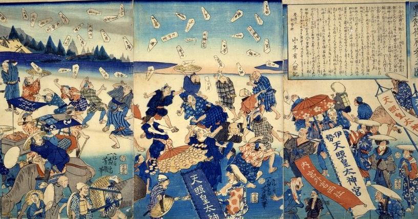表現規制をしらべる1858年7月29日に、日本とアメリカ合衆国の間で結ばれた通商条約です。アメリカ側に領事裁判権を認め、日本に関税自主権がなかった条約でした。TPPも関税自主権を認めない条約ですのでよく似ています。(2)日米修好通商条約などで、日本にアメリカ軍艦がよく来るようになった結果、1858年6月には、日本中にコレラが蔓延しました。原因は、アメリカ軍艦が長崎に寄航した際に、中国のコレラを日本に運んで来たことによりました。このコレラの流行により、江戸だけで3万人~4万人の病死者がでました。 TPPでも、外国人の日本への障壁が無い自由な出入りが求められているので、同様に、何かの病原菌が日本にもたらされる恐れがあります。TPPで障壁無く自由に穀物を輸入することも求められているので、もし、TPPによって輸入穀物に対する厳しい検査が無くされたら、輸入穀物に付いて来る病原菌によって、日本に病気が入り易くなることも考えられます。(3)日米修好通商条約によって、日本が輸出する生糸、茶、蚕卵紙の生産が追いつかず(輸出超過で良く売れた)、国内向けが品不足になり、物価が高騰しました。 (このグラフは「米一俵(60kg)の価格の推移」のページのデータをグラフ化しました)生糸の輸出超過で日本国内は物不足による物価高になったので、貿易をする外国人を「悪」として、攘夷運動(外国人殺害事件)がおきるようになりました。(貿易開始にともなう経済混乱と物価騰貴は,下級武士たちのあいだに,条約調印をおこなった幕府や貿易相手の欧米人に対する反発を強め,条約調印に反対の意思を表明した孝明天皇への支持を広げていく。尊王攘夷運動が高まったのだ。) ------------------------------------------- 【当ブログ主のコメント】その当時に攘夷運動(外国人殺害運動)を行なった武士たちの心理を日本人として解釈してみる。 (1)日本人の文化の底には、正当な理由があれば、自ら切腹して死ぬ心構え(死の恐怖を殺す心構え)があると考える。 今日、電車への投身自殺が多いことから、その心理はあるだろうと考える。これは、日本人に限ったことでも無いと思う。私自身について内省すると、もし、軍隊の命令で、「敵機に特攻して死んでこい」と言われたら、自分が「特攻」の必要性を納得し、それを私の家族や周囲の友人一同も納得している状況なら、やはり私も特攻するだろうと思う。(2)当時の武士も、(自分の命も含めて)死ぬべき者を殺す正当な理由がある場合には、その者を殺したのだろう。当時の武士らは、外国人を殺害する正当な理由があると考えたのだろうと思う。それを冷静に形良く行なうことを武士の作法で躾けられて来ただろう。外国人を殺すことで、今度は、それを実行した自分自身が殺される理由ができたと納得すれば、自らも切腹して死んだのだろうと考える。すなわち、外国人を殺すのも正当な理由によって殺し、自ら切腹するのも正当な理由で切腹し、いずれにも迷いが無く「行いの全てが良い」と考えて行なったのだろうと思う。 ------------------------------------------- また、日米修好通商条約で関税自主権が制限されるようになりました。(1)特に、1865年に、江戸幕府が、イギリスから、輸入税(関税)を一律5%にする案を提示されました。江戸幕府がそれを了承した(関税自主権が無くなる)ことで、日本に安価な綿織物が大量に輸入されました。(2)その結果、国内産業が圧迫され、これにより流通機構が崩れ、それが物価高騰に拍車をかけました。(3)この物価の高騰に、米の不作が重なったので、1865年に、庶民の生活が成り立たなくなりました。そのため、1865年から、全国的に世直し一揆や打ちこわしなどが頻発するようになりました。リンク:TPPのモデルケースの韓国の庶民が破産&その前に表現規制TPPの詳しい解説(サルでもわかるTPP)『TPPで日本をぶっ潰せ!!』 ~ 10分で理解できるTPPの問題点 ~TPP参加に向けての国民無視の暴走を止める(東京大学 鈴木宣)TPP参加問題、関税自主権と国家の存亡日本がTPPに加入する意味(田原総一郎+中野教授)TPPでつぶれる小規模自作農制度は反共政策だったTPP佐藤ゆかりの野田総理への質問(この自民党による厳しい追及も、経団連の自民党への苦言の一言で終わりになった。自民党は経団連が望むTPPに賛成)TPPをめぐる議論の間違い 東京大学 鈴木宣弘グローバル化、国際通貨基金が貧困を作るときTPPは全世界で反対されている、自由貿易ではなく公正貿易が必要アメリカ本国ですら批判されるTPP【動画あり】表向きは「貿易協定」ですが実質は企業による世界統治です遺伝子組