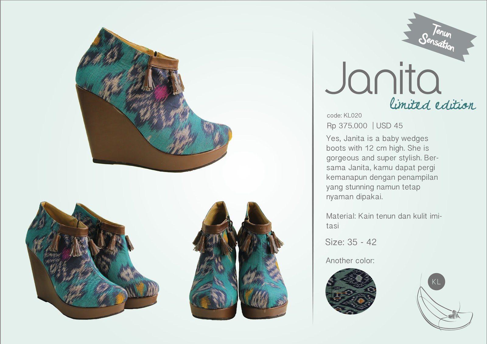 Eyecatching Eyecandy April 2013 Boot Wanita Abstrak 5cm I Found These Product To Be Interesting We Usually Wear Batik Or Tenun In Clothes But They Use The Fabric On Shoes Here Is Web Klastik Footwear
