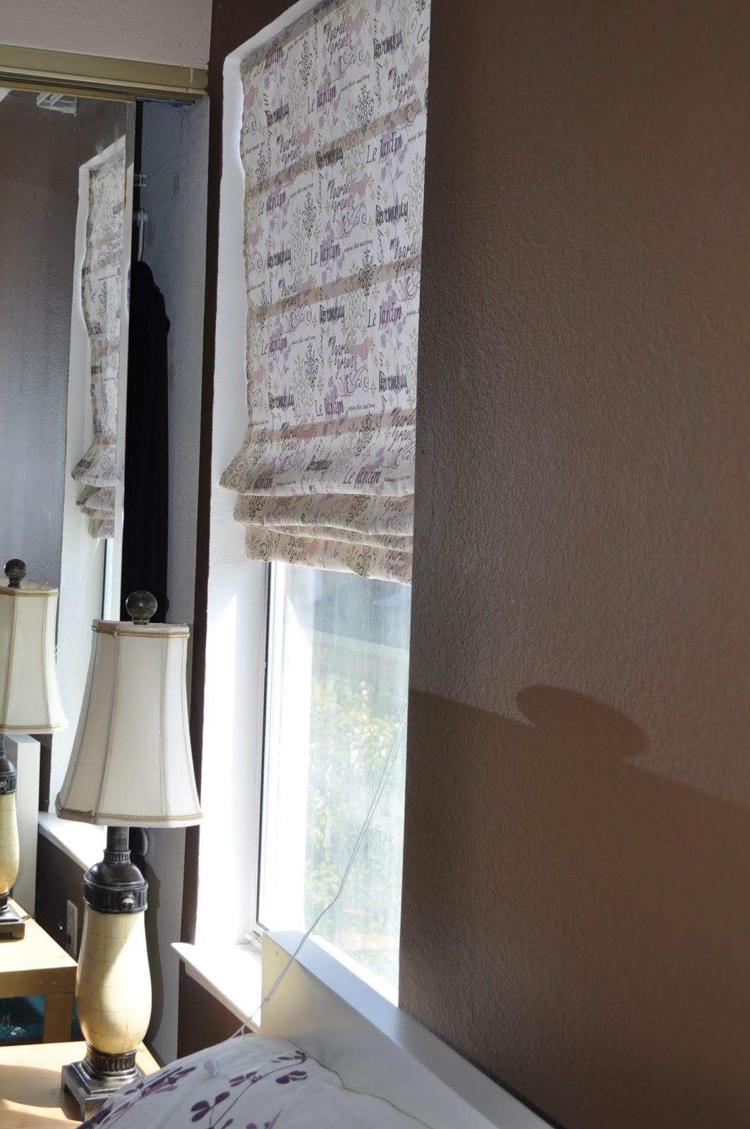 Lay Down Blinds >> Craft Me Not: DIY Roman Curtain