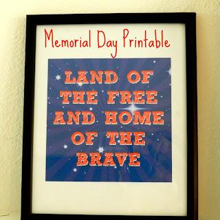 Memorial Day Printable