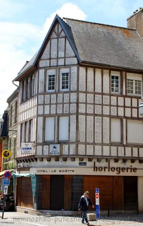 Фахверковые дома, пемполь, Бретань,