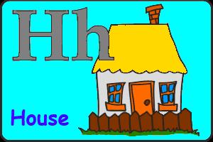 Карточка английской буквы H