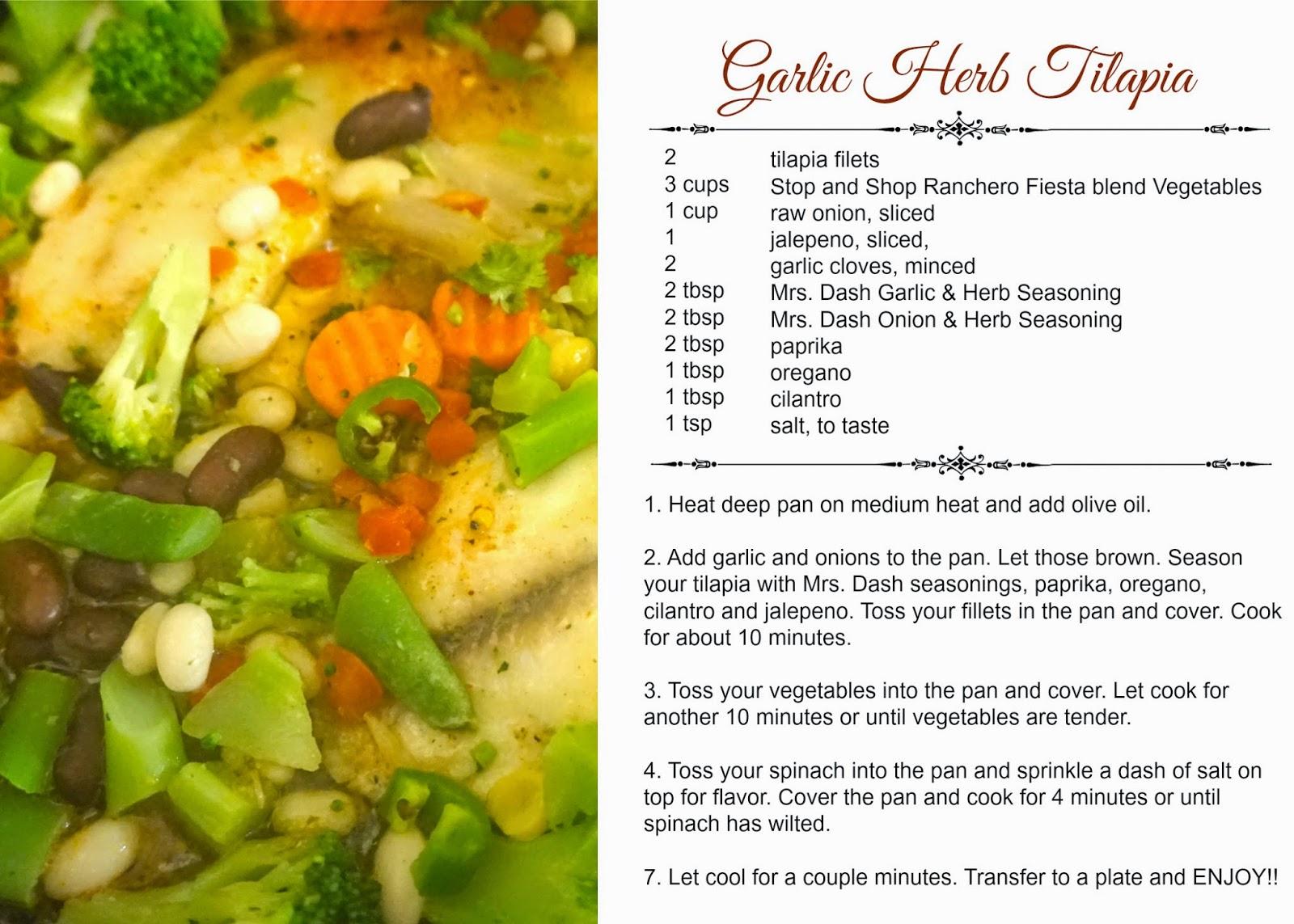 Garlic Herb Tilapia Recipe
