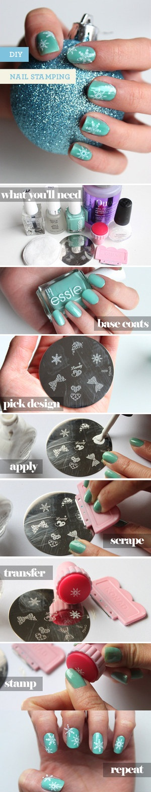 How to stamp you nails nail art tutorial