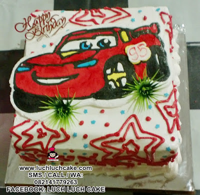 Kue Tart Cars Buttercream