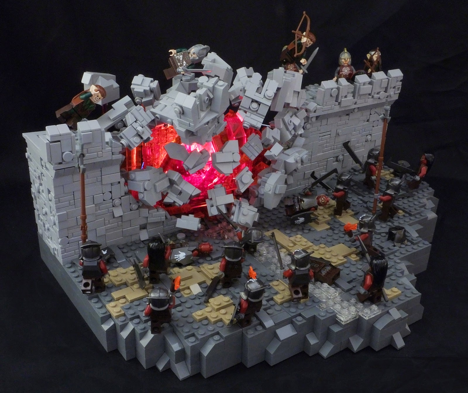 Lord Of The Rings Helms Deep Explosion