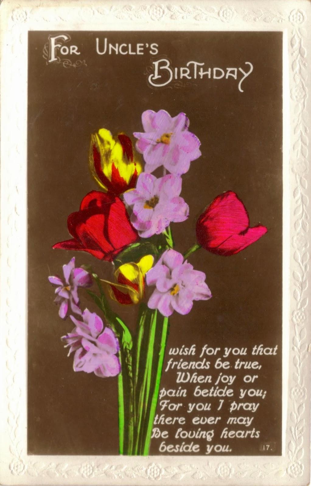 Raphael Tuck Uncle's Birthday Postcard