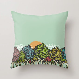 Pillow Enchanted Wood