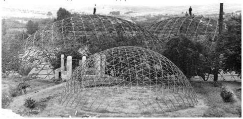 Cupulas macladas y maqueta 1964. Fundacion Perez Piñero.