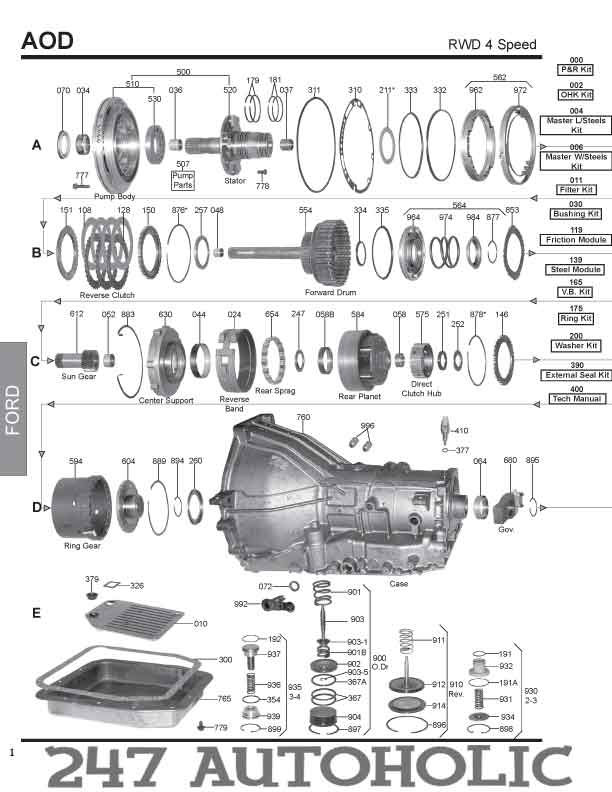 ford ranger 4r44e shift solenoid diagram