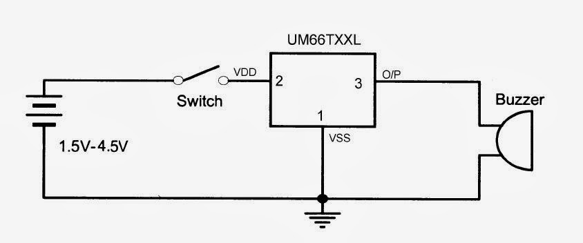 electronics tutorials  um66 based melodious sound generator