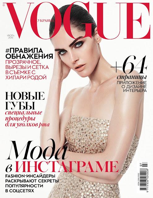 Fashion Model @ Hilary Rhoda by Jack Waterlot for Vogue Ukraine, July 2015