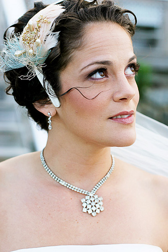The Fascinating Short Hairstyles For Weddings With Flowers Photo