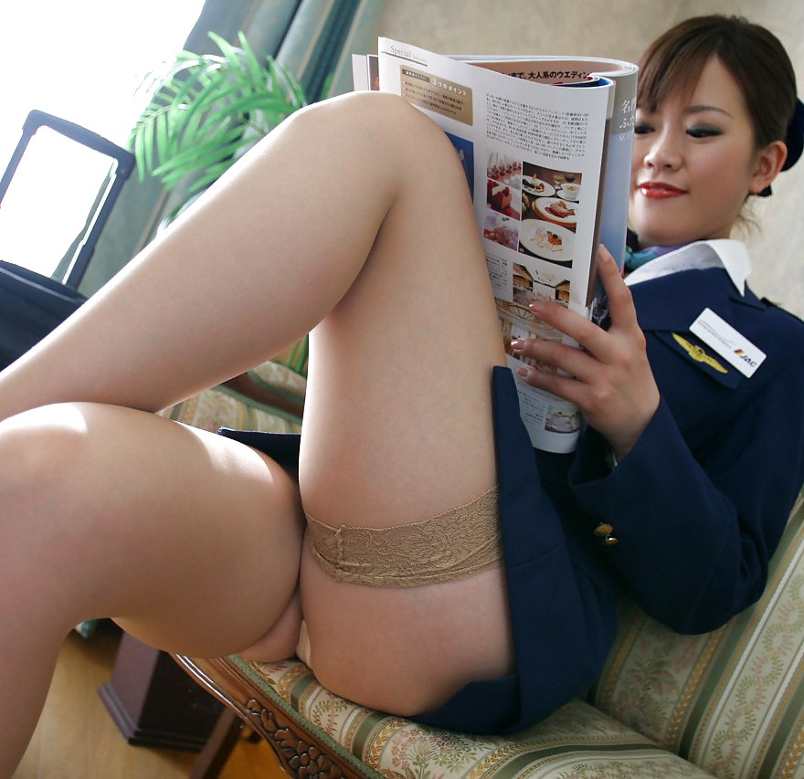 Hottest Flight Attendants In Pantyhose