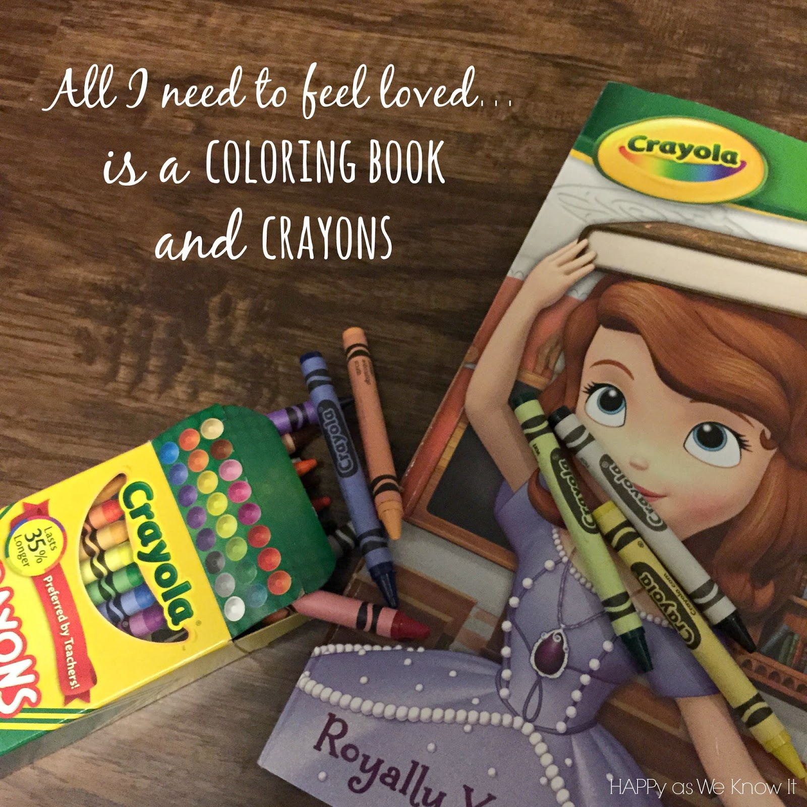 Love is a Coloring Book and Crayons | Happy as We Know It