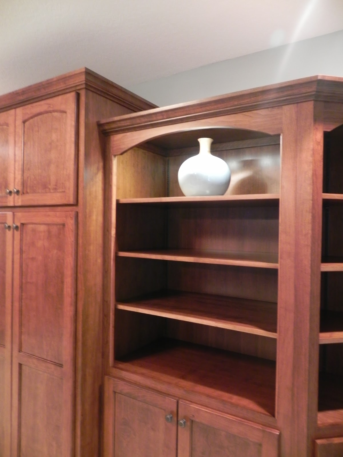 Adkisson 39 s cabinets cherry bookcases and alder wood for Alder kitchen cabinets