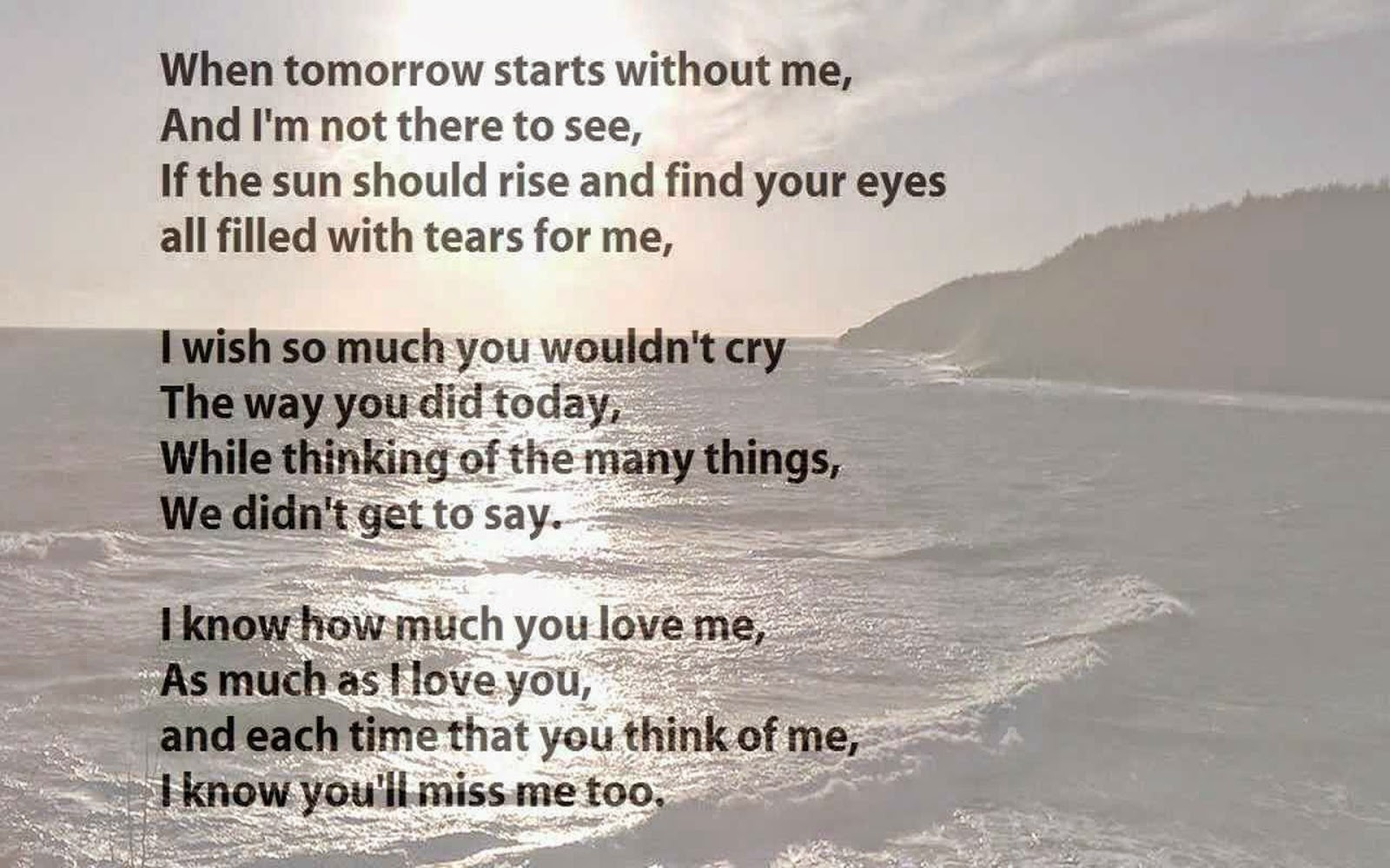 Me love will ever poems you I Know