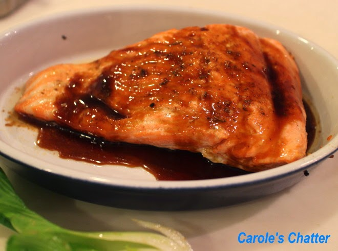 Salmon with a Maple/Soy/Ginger glaze by Carole's Chatter