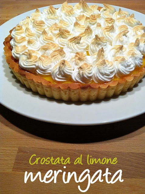 Crostata con limon y merengue