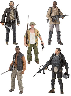 The Walking Dead Television Series 8 Action Figures by McFarlane Toys - Rick Grimes, Morgan Jones, Dale Horvath, Bob Stookey, Rick Grimes & Eugene Porter