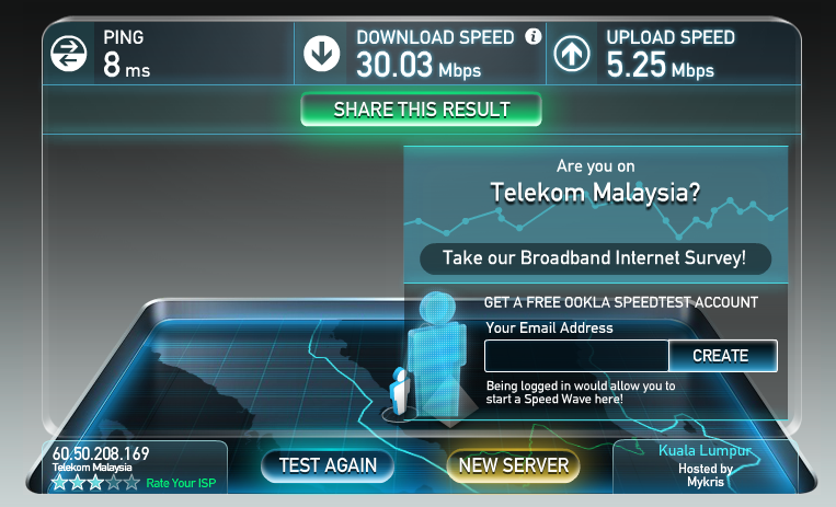 unifi speed test
