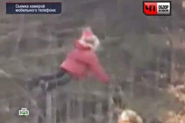 Russian Girl Floating In The Air Caught On Video