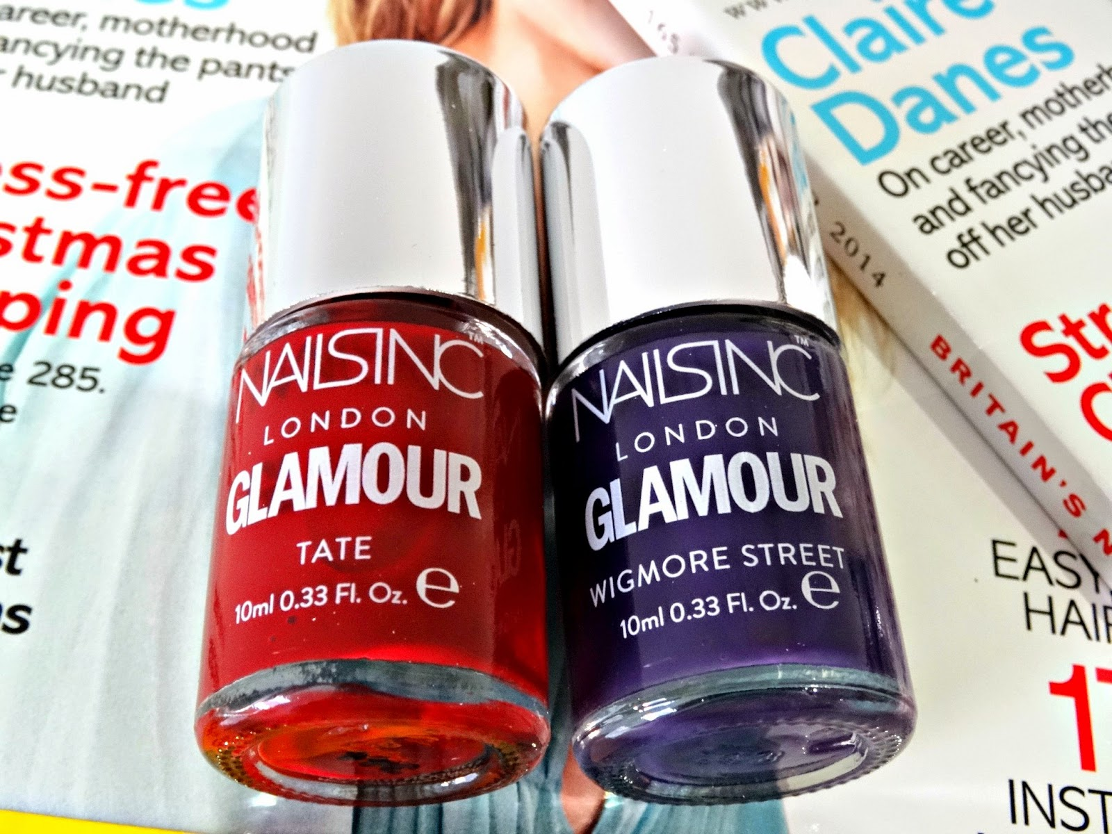 Glamour December 2014 issue review Nails Inc nail polish