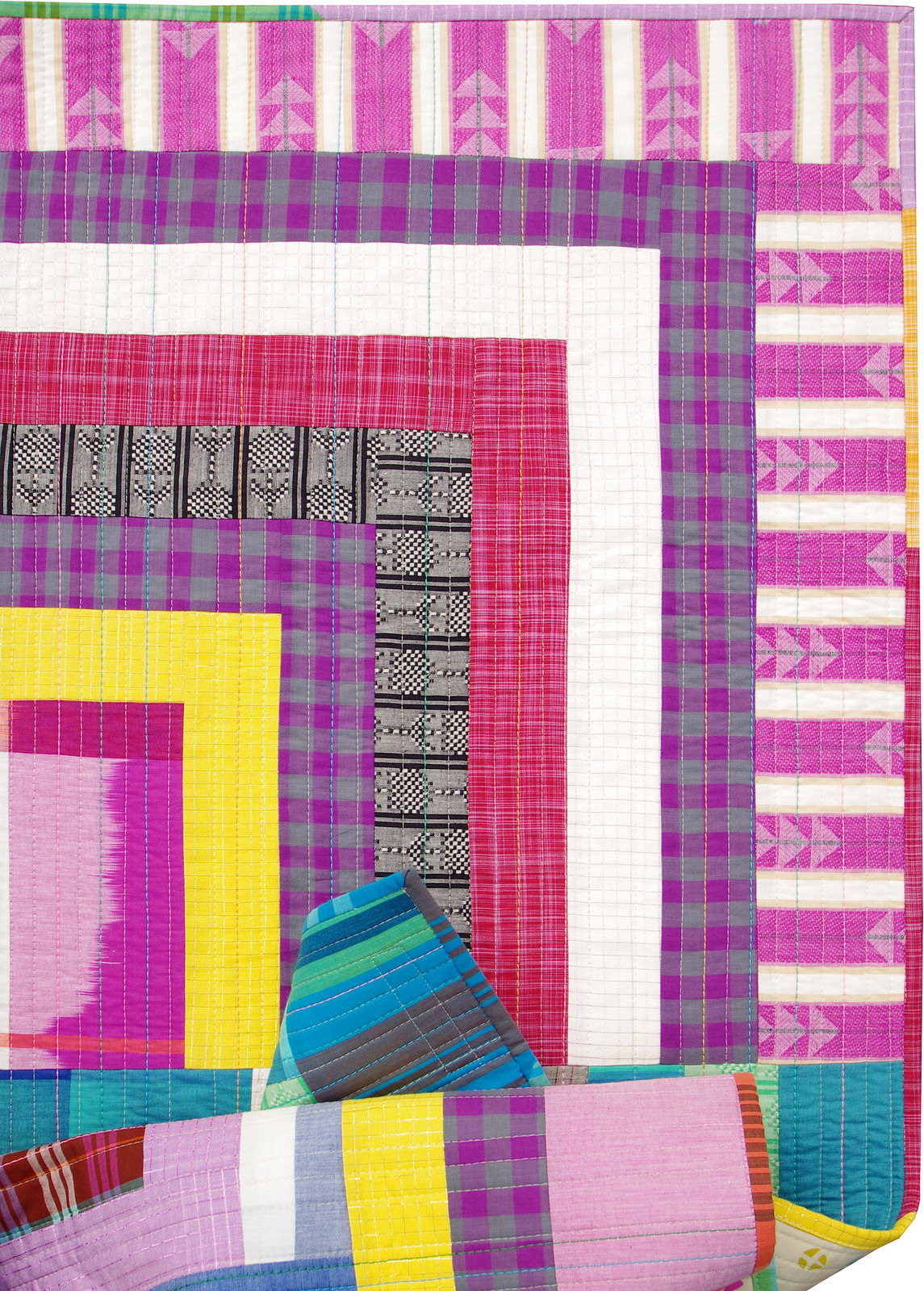 Loominous Improvised Quarter Log Cabin Quilt | Red Pepper Quilts