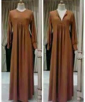 Gamis Jersey Rempel Zipper Camelia Dress