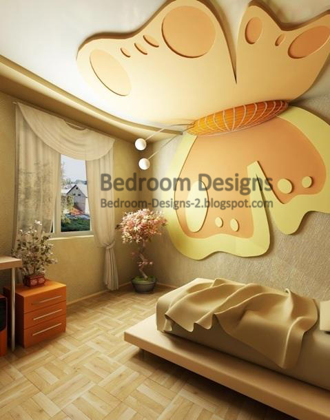 Bedroom Decoration Ideas For Girls Bedrooms Gypsum Butterfly