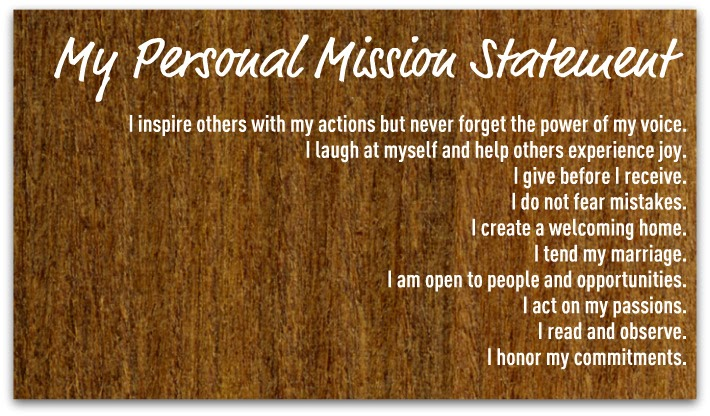 personal mission statement essay example Mission statement essay the purpose of a mission  apple computer's mission statement, for example, should not open the possibility for diversification into pesticides,  the first step in creating a personal mission statement is to understand your values and what motivates you.