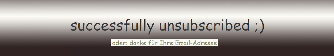 successfully unsubscribed ;)