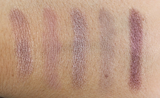 loreal nude palette rose swatches
