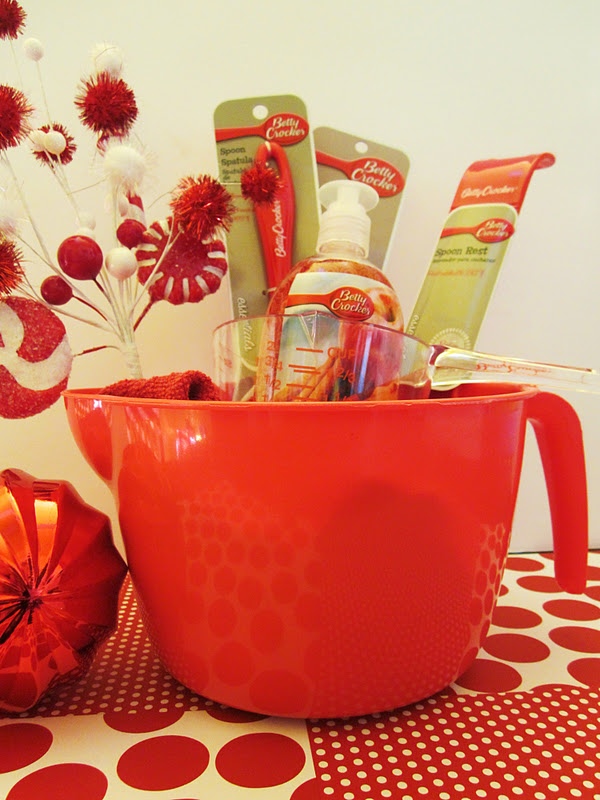 Homespun with love betty crocker dollar store gift for Christmas kitchen gift basket ideas