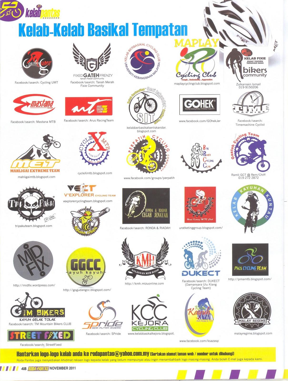 LOGO KELAB dalam Majalah Basikal Rakyat : RODA PANTAS