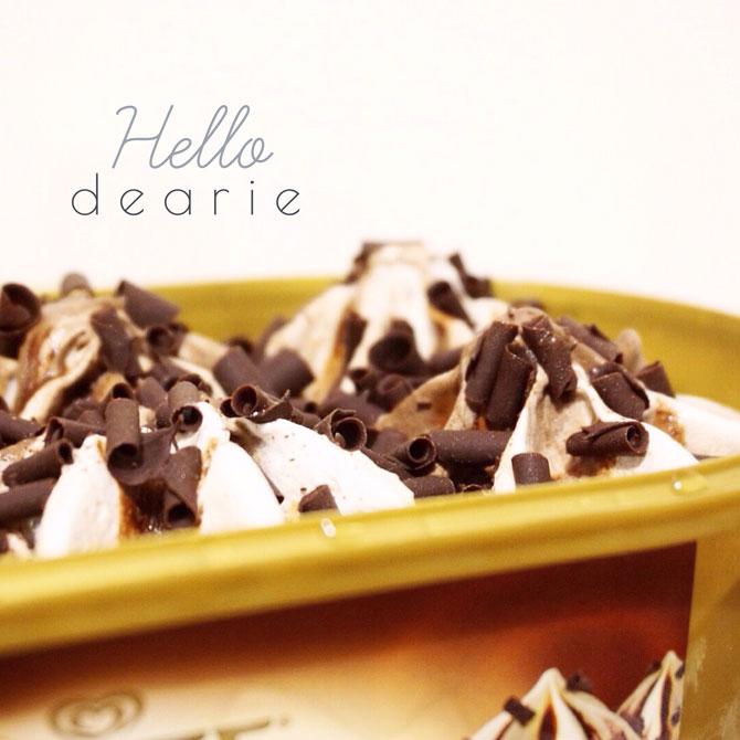 Glace chocolat liégeois de Carte d'or