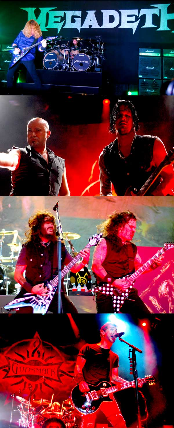 Megadeth, Disturbed, Godsmack and Machine Head