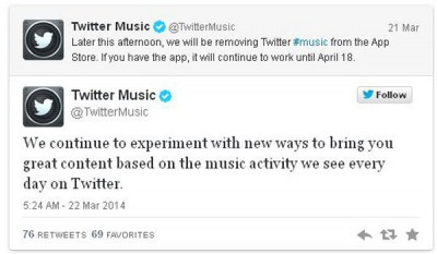 Sepi Peminat, Twitter akan Tutup #Music