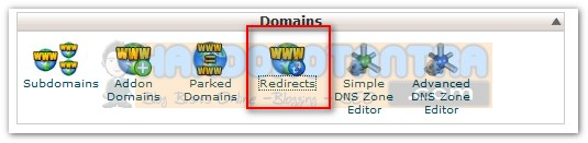 redirect domain di Cpanel