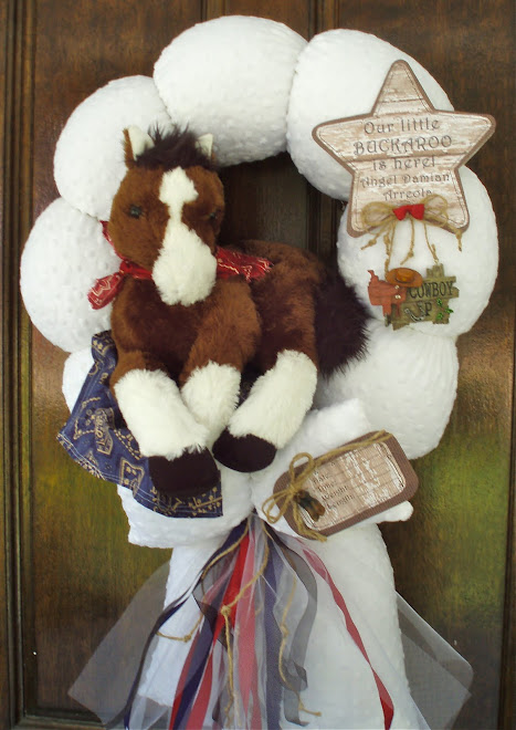 "90.""cowboy up"" baby wreath"