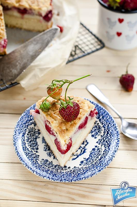 Ciasto z truskawkami i budyniem przepis