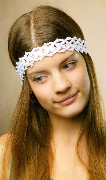 Ажурная повязка для волос: