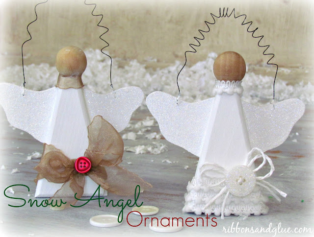 Simple Snow Angel Ornaments