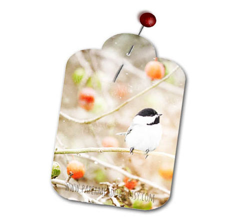 Little Chickadee Christmas printable gift tags. You can purchase and download our photography creations and instantly print at home from our Paper Meadows Photography Shop on ETSY. To Visit our shop now click here.