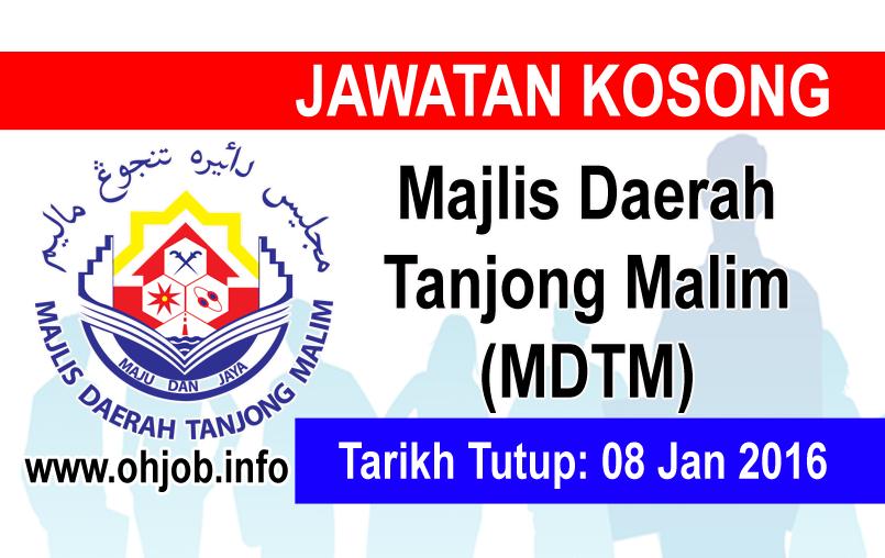 Jawatan Kerja Kosong Majlis Daerah Tanjong Malim (MDTM) logo www.ohjob.info januari 2016