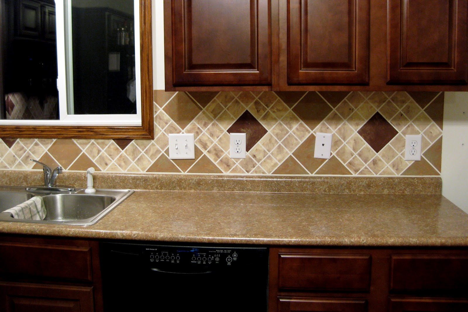 Painted Backsplash Ideas painted backsplash tutorial!! - reality daydream