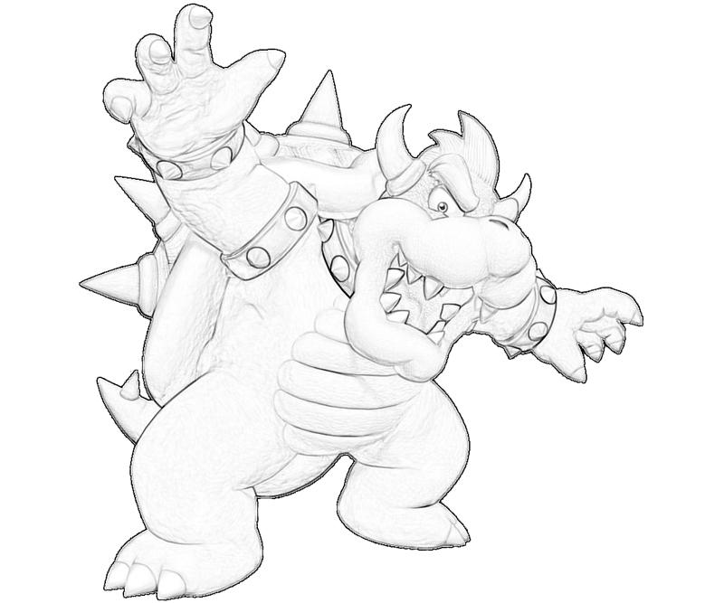 bowser bowser attack coloring pages - Bowser Coloring Pages