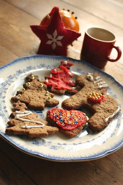 koek, recept, kerst, feest, holidays, rood, versierd,