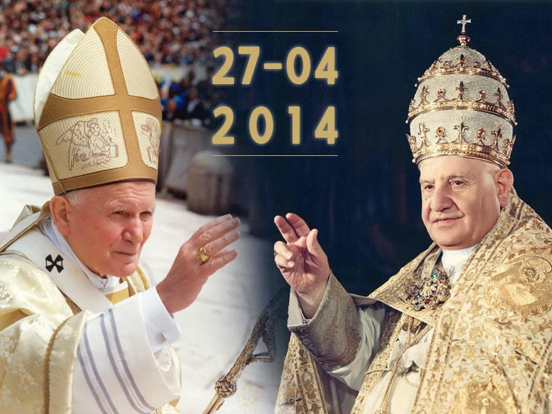 Canonization of Blesseds John XXIII and John Paul II
