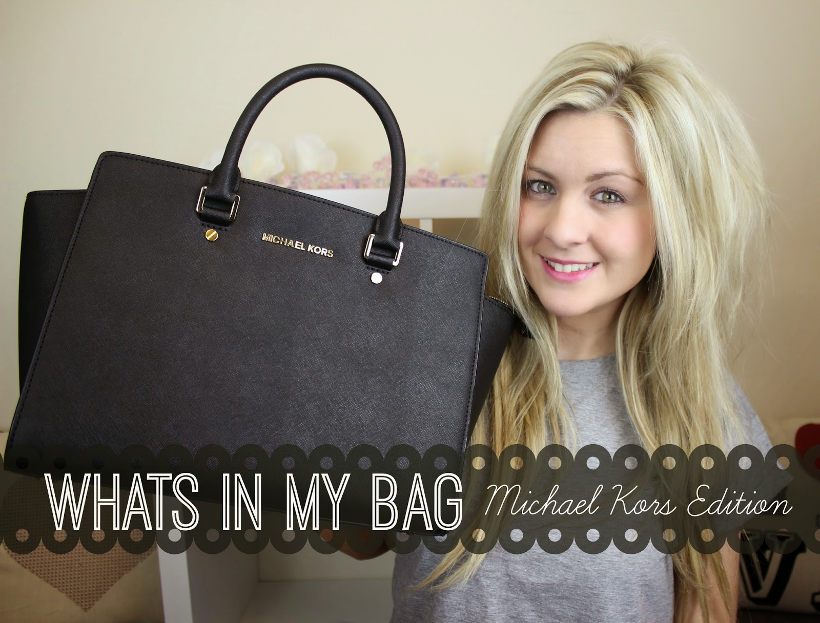 british youtubers, youtube, whats in my bag, Michael Kors Selma Bag, Michael Kors, whats in my bag tag, through chelsea's eyes,